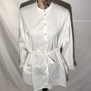 Free People White Shirt Dress Size Small